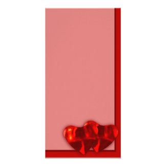 Two Hearts Custom Photo Card