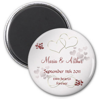 Two hearts forever magnet