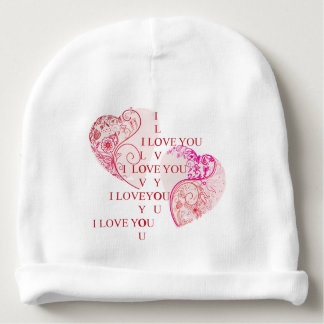 Two Hearts - I Love You Baby Beanie