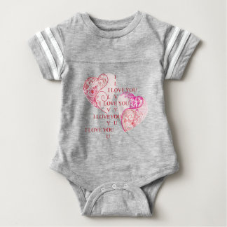 Two Hearts - I Love You Baby Bodysuit