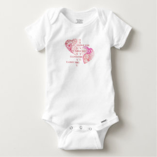 Two Hearts - I Love You Baby Onesie