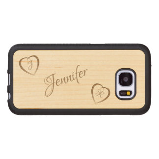 Two Hearts in Love Wood Samsung Galaxy S7 Case