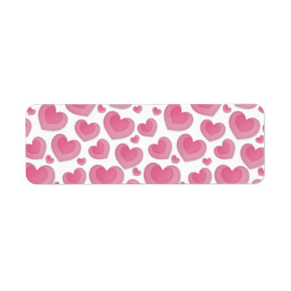 Two Hearts In One Return Address Label