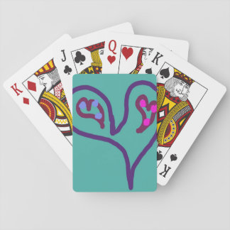 Two Hearts in One Playing Cards