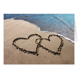 Two Hearts In The Sand Greeting Card
