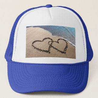 Two Hearts In The Sand Trucker Hat