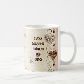 Two Hearts Joined as One Love Mug