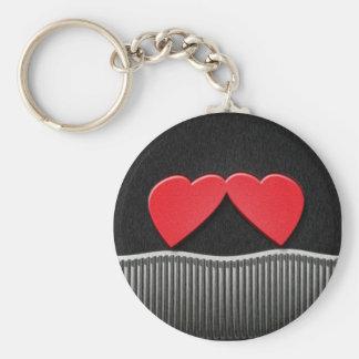Two Hearts Keychain