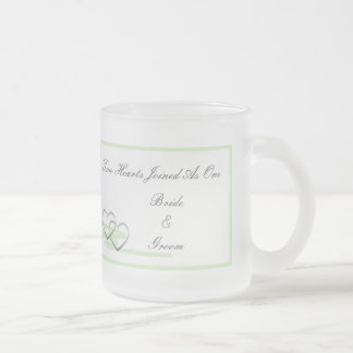 Two Hearts Mug Green