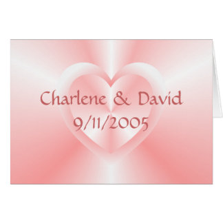 two hearts note card