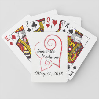 Two Hearts Playing Cards