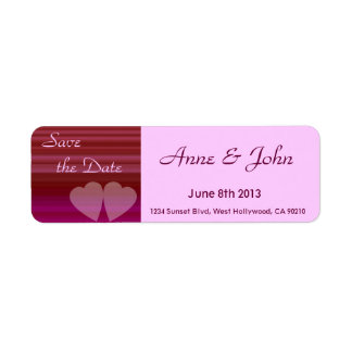Two Hearts Return Address Label
