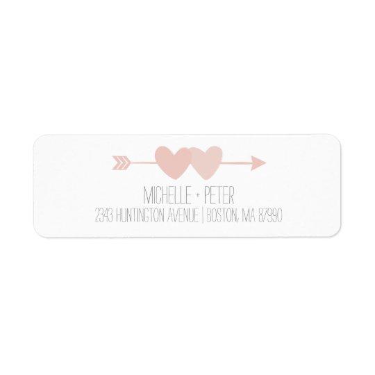 Two Hearts Return Address Label