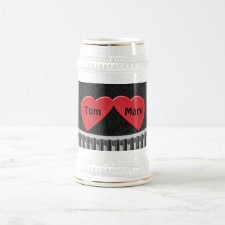 Two Hearts Stein 18 Oz Beer Stein