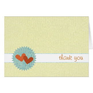 Two-Hearts Thank You Notecards Note Card