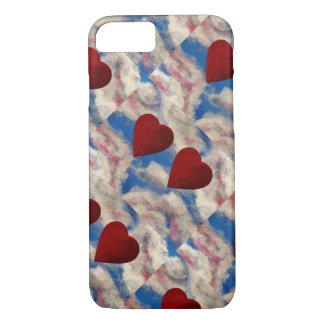 TWO HEARTS THAT BEAT AS ONE (red heart design) ~ iPhone 7 Case