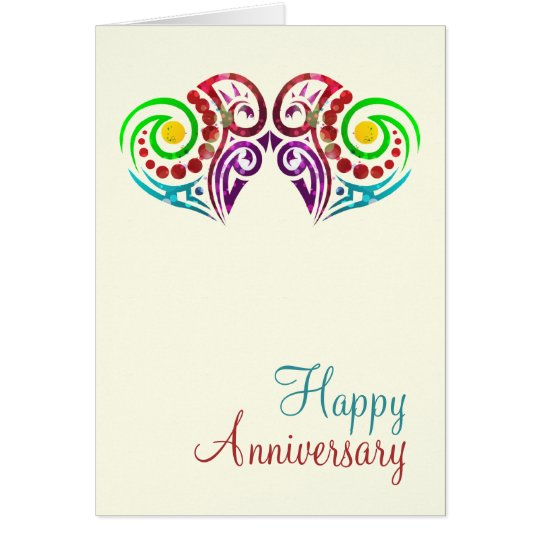 Two Hearts Wedding Anniversary Card