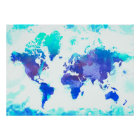Two Hearts World Map Poster