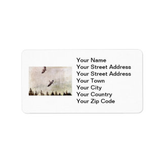 Two Herons Flying Photo Labels