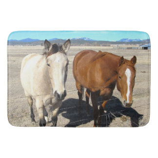 Two Horses Bath Mat
