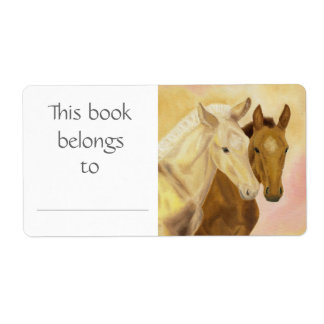 Two Horses book label