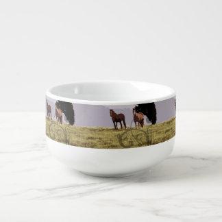 Two Horses Country Soup Mug