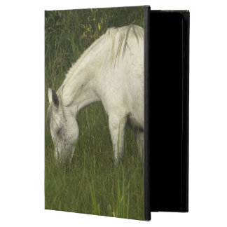 Two horses eating grass iPad air cover