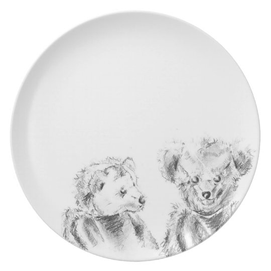 Two Hungry Bears Plate