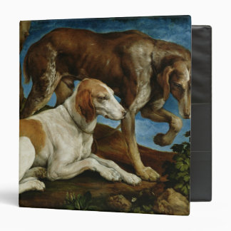 Two Hunting Dogs Tied to a Tree Stump, c.1548-50 Binders