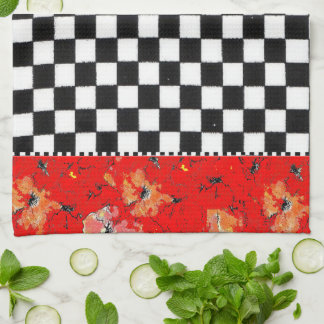 Two in One Checkerboard Kitchen Towel