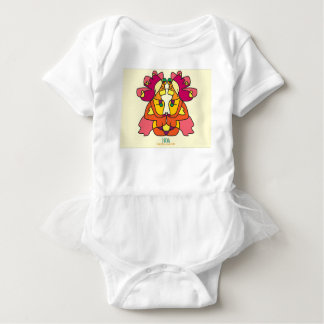 two indians sitting with a lion colorful art gift baby bodysuit