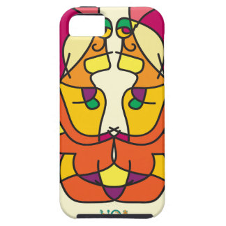 two indians sitting with a lion colorful art gift case for the iPhone 5