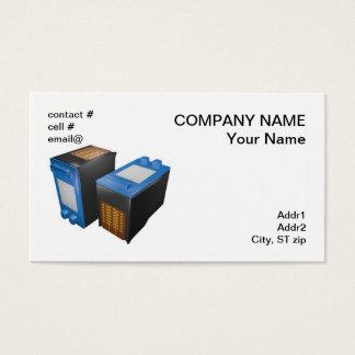 two inkjet printer cartridges business card