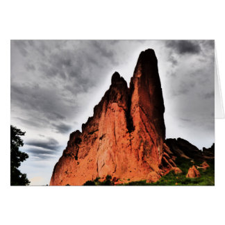 Two Jagged Peaks, Garden of the Gods, Blank Inside Card
