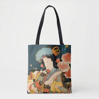 Two Japanese actors (Vintage Japanese print) Tote Bag