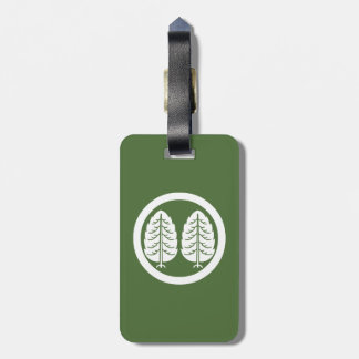 Two Japanese cedars in circle Luggage Tag