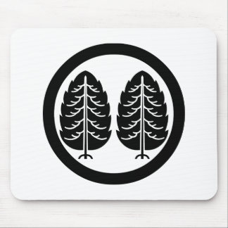 Two Japanese cedars in circle Mouse Pad