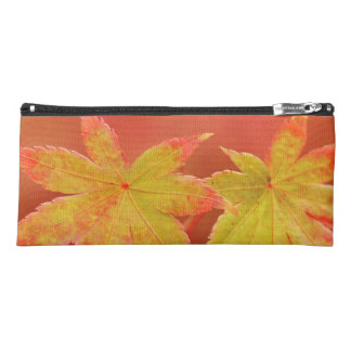 Two Japanese Maple Leaves Pencil Case