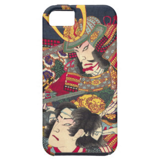 Two Japanese Samurai Colorful iPhone Case