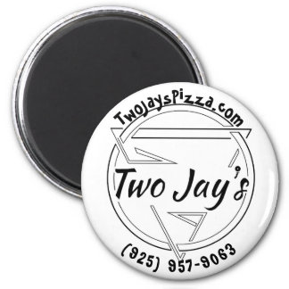 Two Jay's Pizza Pin 2 Inch Round Magnet