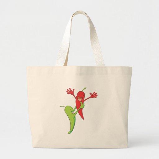 Two Joyful Chili Pepper Lovers Tote Bag