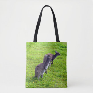 Two Kangaroos Full Print Shopping Bag. Tote Bag
