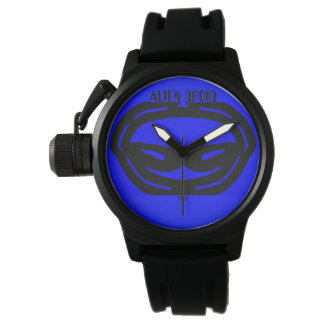 two kats blue alien droid watch