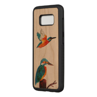 Two Kingfishers BIrd Art Carved Samsung Galaxy S8 Case