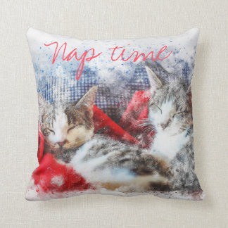 Two Kittens Nap Time Pillow