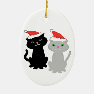 Two Kitties Christmas ornament