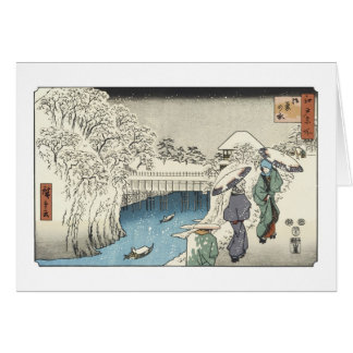 Two Ladies Conversing, Hiroshige, Card