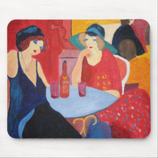 Two Ladies in a Cafe Mouse Pad
