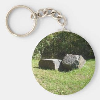 Two Large  Rocks Keychain