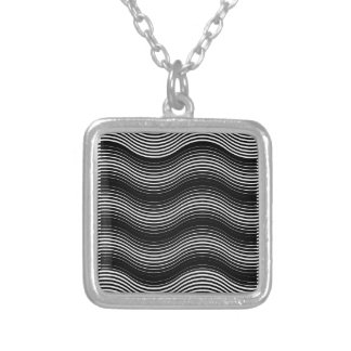 Two layers consisting of curves with identical inc silver plated necklace